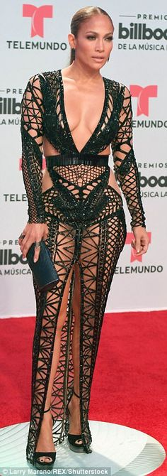 """Sizzle like J.Lo in Julien Macdonald  Click """"Visit"""" to buy #DailyMail"""