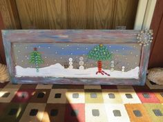 Turn an Ugly Window into a Winter Wonderland
