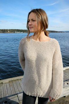 Genser i fargen 2521 Sand #skappel #sandnesgarn #strikk #knit