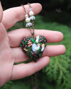 Forest heart pendant - fantasy heart necklace -moonstone - wiccan jewelry - healing crystal - fairy heart - Valentine day -  witch jewelry - wood heart - celtic heart - wood jewelry - fimo - tree - ladybug - polymer clay #heart #garnetgemstone #celtic #forest #forestheart #forestjewelry #woodpendant #leaf #fantasy #healingcrystal #crystalhealing #wicca #witch #red #valentinesday #polymerclay #fimo #fantasy #forestlove #nature #wiccanjewelry #tree  #naturejewelry #moonstone #ladybug #mushroom