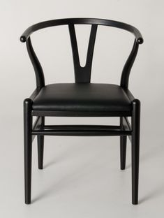 Milano Republic Furniture - Replica Hans Wegner Wishbone Chair - Black Frame with PU seat - Beech Timber, $145.00 (http://www.milanorepublicfurniture.com.au/replica-hans-wegner-wishbone-chair-black-frame-with-pu-seat-beech-timber/)