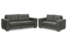 Baxton Studio Westerlund Gray sofa set   Affordable Modern Furniture in Chicago.