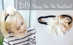 DIY floppy pom pom headband