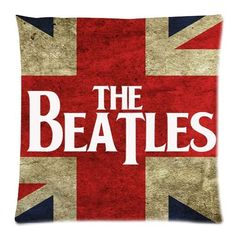 The Beatles UK Flag Pillow Cover Pillow Sham. Show your rock n roll pride with The Beatles union jack pillow cover. Buy two for a set! quality cotton, polyester, machine washable,colorfast and shrink-proof. Rock Posters, Band Posters, Concert Posters, Rock And Roll, Pop Rock, Die Beatles, Beatles Art, Beatles Poster, Beatles Guitar