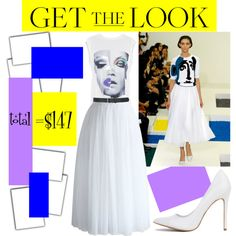 pop princess by kc-spangler on Polyvore featuring Relish, Chicwish, M&Co, GetTheLook, white and 80s