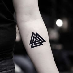 Temporary tattoo sticker with three triangles (set of . - Temporary tattoo sticker with three triangles (set of … – Temporary t -