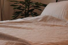 Organic Linen blanket pure soft linen bed by KingdomofComfort