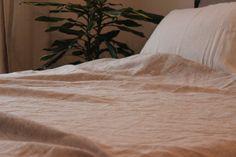 Organic Linen blanket pure soft linen bed by KingdomofComfort