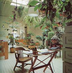 Love the bare bones of this studio nestled amongst all the greenery...