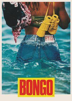 September 1989. Bongo. Denim. Jeans. Vintage. Wet. Water. Binoculars.