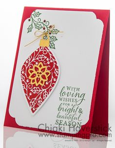 Christmas Card Class 2015 #3: Embellished Ornament