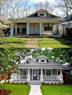 avant et après, aménagement paysager et rénovation du devant de la maison! MAGNIFIQUE