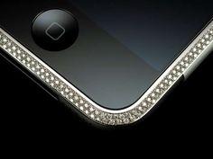 Gold & Diamond Encrusted iPhone #phones trendhunter.com