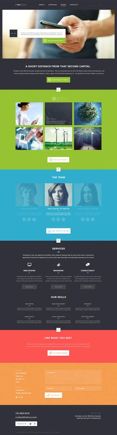 clean one-page web design