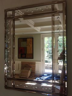 34' x 46' mirror custom made in venice - sentimental family value - just fits in powder