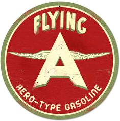 Flying A Gasoline, Advertising Sign USA Made Vintage Style Reproduction Auto Car Gas Oil Garage Art Wall Decor Garage Signs, Garage Art, Advertising Signs, Vintage Advertisements, Vintage Metal Signs, Vintage Auto, Antique Signs, Antique Metal, Etsy Vintage