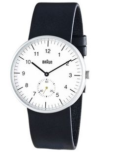Braun: The Analog Designed by Dieter Rams and Dietrich Lubs in the 1970s, these simple timepieces were just re-issued this year. You should buy two: One to wear right now while fidgeting with your iPad and one to sell in 20 years.  Analog Wrist Watch ($220) by Braun