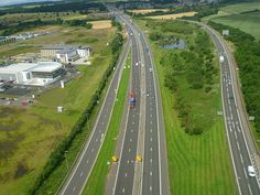 M9 motorway (Scotland) from Glasgow to Edinburgh.