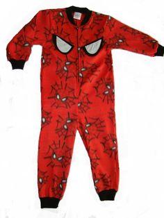 Spiderman onesie with GLOW in the DARK spidy eyes. Onesie + GLOW in the DARK = GLOWSIE = endless amount of fun for children