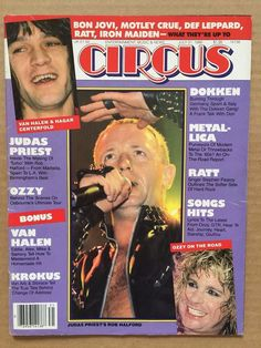 vintage original july 1986 circus #magazine 'rob halford' judas priest from $7.0