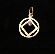 Sterling Silver Narcotics Anonymous NA Symbol with Amethyst Recovery Jewelry   eBay