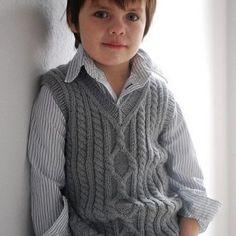 """Knitting Patterns Boy Ravelry: Pembroke Vest pattern by Kirsten Kapur"", ""I'm afraid the Petite Purls website has shut down and t Baby Boy Knitting Patterns, Knitting For Kids, Knitting Designs, Baby Patterns, Knitting Projects, Matching Sweaters, Baby Sweaters, Crochet Baby, Knit Crochet"