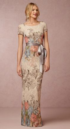 Floral gown for the mother-of-the-bride