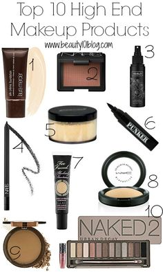 "Top 10 ""High End"" Makeup Products"
