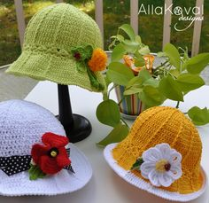 Garden Party ~ Free Hat Patterns