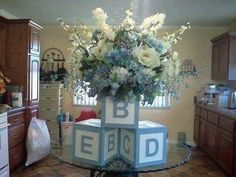 Building blocks baby shower