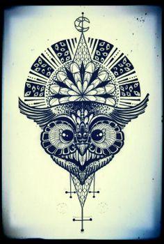 Monika Boo #InkedMagazine #owl #art