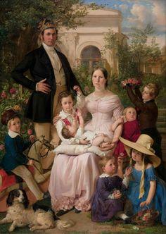 Johann Baptist Reiter (1813 - 1890) — Portrait of Family Schegar, 1842 (842x1186)