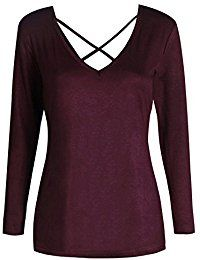 Deep V Neck Cross Front Teen Girls T Shirts * See this great product.