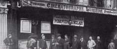 A primeira sala de cinema em Paris, lugar fixo do Cinematografo Lumière.