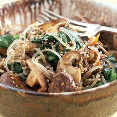 Sweet Potato Noodles (Japchae)