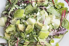 Easy Healthy Recipe – Clean Eating Apple Avocado Salad | Weight Loss Meals and Recipes - Clean Eating Recipes #cleaneatingrecipe #cleaneatingdiet #healthyrecipe #weightlossrecipe #fitfam
