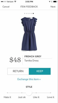 French Grey Tamika Dress- love the price point and ruffles