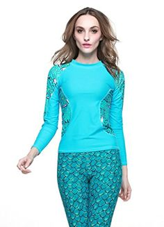 OUO Floral Swimming T-Shirt UPF 50+ Long Sleeve Swimwear UV Protection (Only for the Shirt) OUO http://www.amazon.com/dp/B00W0NNV0G/ref=cm_sw_r_pi_dp_Jtj0vb0W2QDEZ