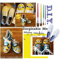 DIY Despicable Me Minion Sneakers