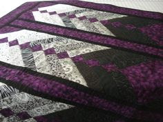 Purple French Braid Quilt