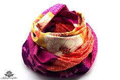Loop Schal Tuch aus der #Lieblingsmanufaktur lila pink - ganz einfach das Kleid aufpeppen