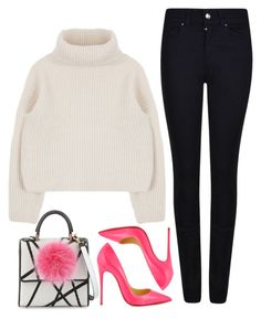 """""""street style"""" by ecem1 ❤ liked on Polyvore featuring Les Petits Joueurs, Christian Louboutin, Giorgio Armani, women's clothing, women's fashion, women, female, woman, misses and juniors"""