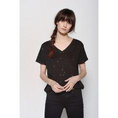 Tee-Shirt Souple Noir @ DES PETITS HAUTS