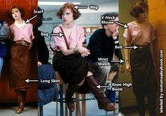 Costume Guide - Molly Ringwald looks absolutely fashionable as Claire Standish, the Princess in The Breakfast Club movie. Couples can dress up as Claire and John Bender! 80s Halloween Costumes, 80s Costume, Halloween Inspo, Halloween Kostüm, Halloween Cosplay, Costume Ideas, Costume Craze, The Breakfast Club, Breakfast Club Costume