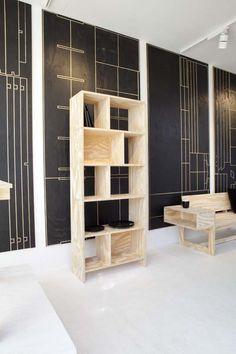 KARWEI | Goed idee nummer 2 om zelf te maken van underlayment: boekenkast.  #DDW14 #karwei #diy