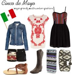 Cute and Casual Cinco De Mayo Duds with a Vegan Twist. Mexican Southwestern Fashion