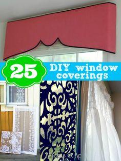 25 DIY window coverings from Remodelaholic.com #windows #curtains #shades @Remodelaholic .com .com