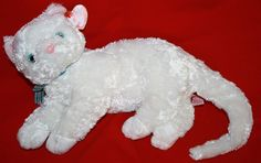 "Ty Beanie Buddy Starlett Kitty Cat White Plush 2002 New Buddies Stuffed 11"" Toy #Ty"