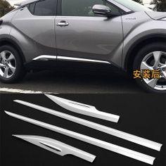 Stainless Steel Rear Brake Lights Sticker For CHR C-HR Brake Lights Molding Trim 2017 2018