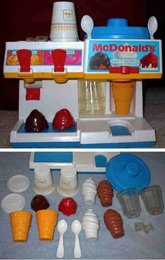 Fisher Price McDonald's soft serve and drinks dispenser toy - this may have been where my fascination with fake food began